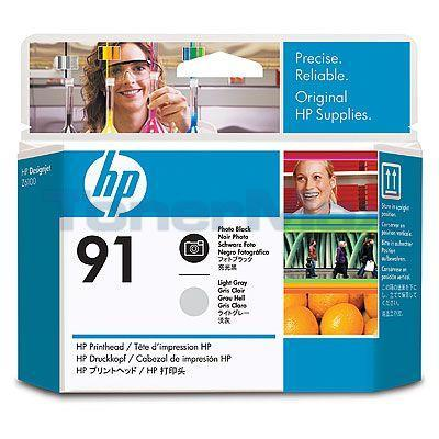 HP NO 91 PRINTHEAD PHOTO BLACK AND LIGHT GRAY